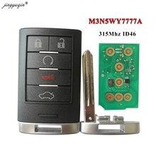 Jingyuqin 315MHz ID46 M3N5WY7777A الذكية بدون مفتاح 5 زر مفتاح بعيد فوب لكاديلاك CTS 2008 2015 STS 2008 2011 SLS