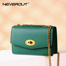 купить NEVEROUT Ladies Crossbody Bags for Women Split Leather Shoulder Sac Woman Brand Name Solid Flap Small Bags Female Messenger Bag онлайн