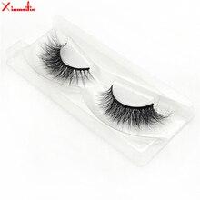 100% 3D real mink hair lashes wholesale natural long individual thick fluffy soft false eyelashes makeup dramatic J045