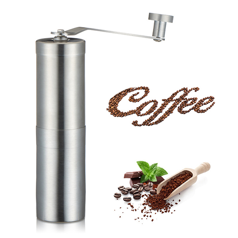 Portable Hand Coffee Grinder Stainless Steel Manual Pepper Mill For Espresso French Press