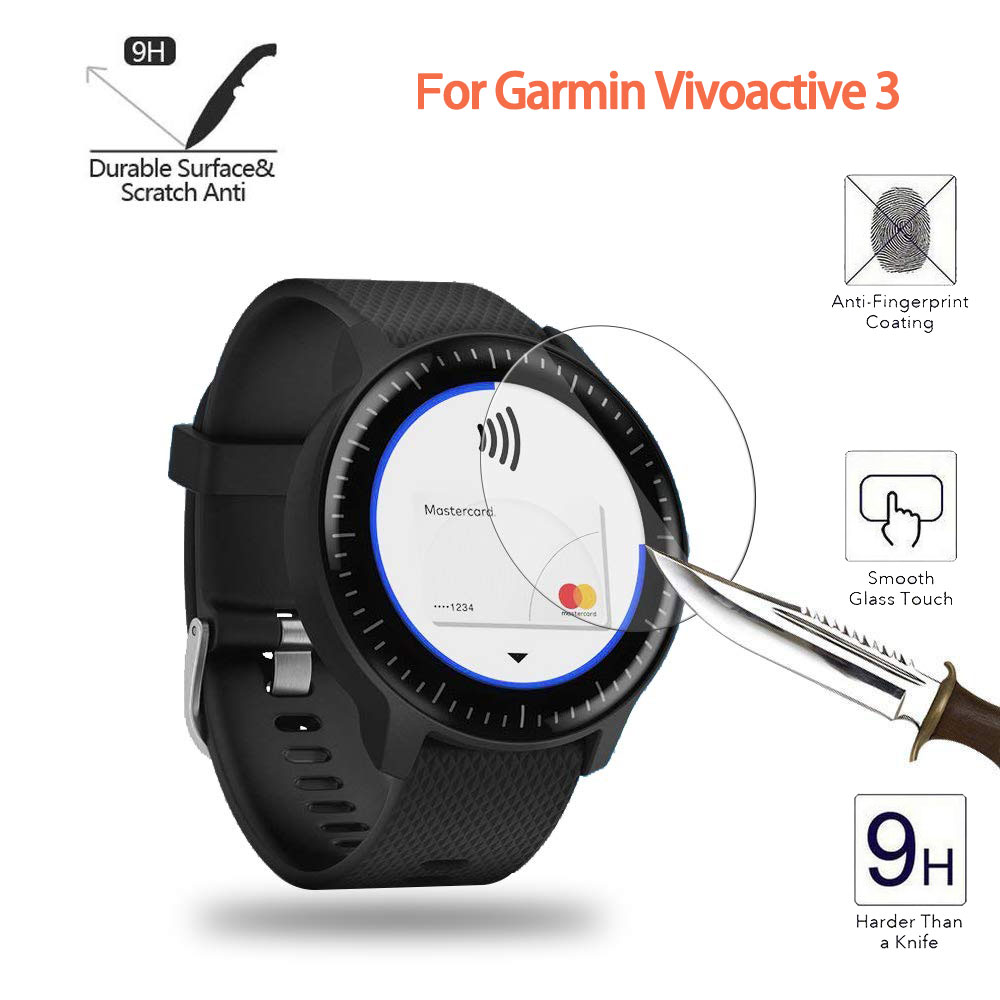 For Garmin Vivoactive 3 Ultra Clear Tempered Glass Music Screen Protector Protective Film Guard Watch Vivoactive3 Display Cover