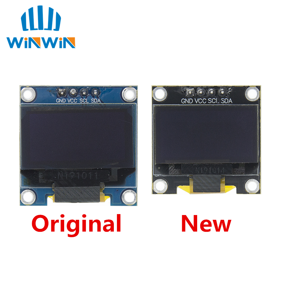 0.96 Inch IIC Serial 4pin White/Blue/Yellow Blue/Yellow OLED Display Module 128X64 12864 LCD Screen Board For Arduino Oled