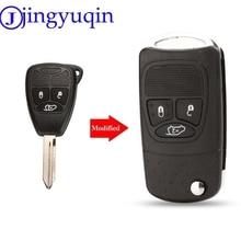 jingyuqin Flip Folding Remote Car Key Shell Fob Styling Cover Case For Chrysler Dodge Jeep Avenger Nitro 3 Button