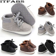 2019 Brand New Infant Baby Girl Shoes Newborn Soft Sole Sneaker Cotton Crib Shoes Sport Casual Warm First Walkers For 0-18month недорого
