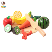 10pcs Set Kids Kitchen Toy Pretend Play Plastic Food Cutting Fruit Vegetable Children