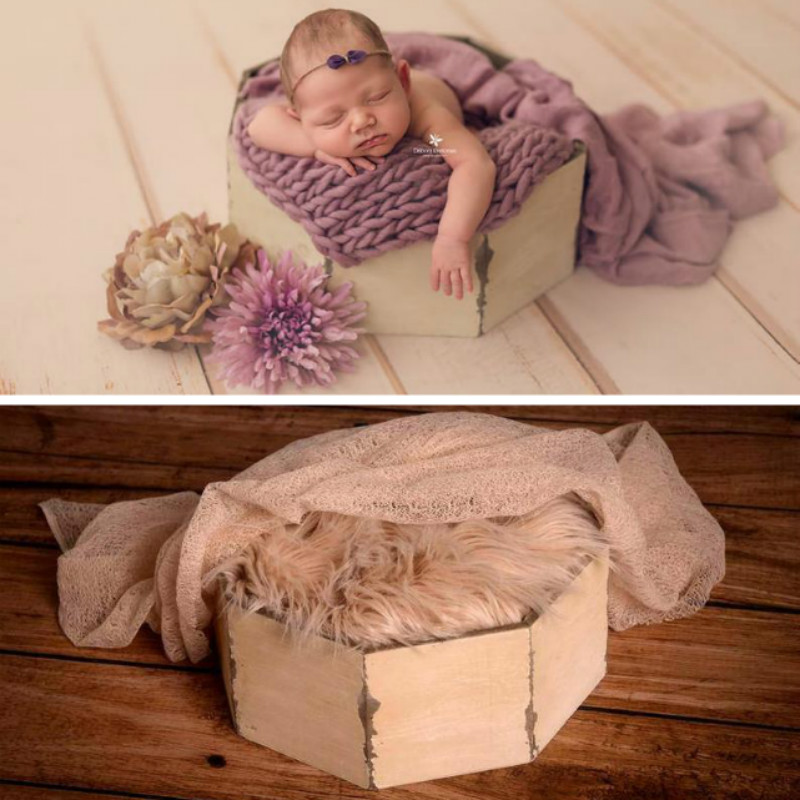 Newborn Photography Props Baby Posing Wooden Container Mini Bed Creative Big Props Do Old Infantil Shoot Accessories New Arrival