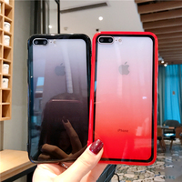 Soft Transparent Phone Case For iPhone XR 7 8 6 6S Plus Colorful Border Case For iPhone X XS MAX XR Shockproof Covers