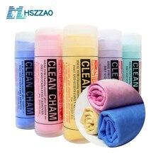 Myjnia samochodowa PVA imitacja deerskin ręcznik samochodowy ściereczki do czyszczenia osuszania Hemming szmatka do pielęgnacji samochodu Detailing ręcznik do mycia samochodu rozmiar 43x32 cm