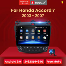Junsun V1 Honda Accord 7 2003-2007 için araba radyo multimedya Video oyuncu navigasyon 4G GPS Android 9.0 2 din Android hiçbir dvd(China)