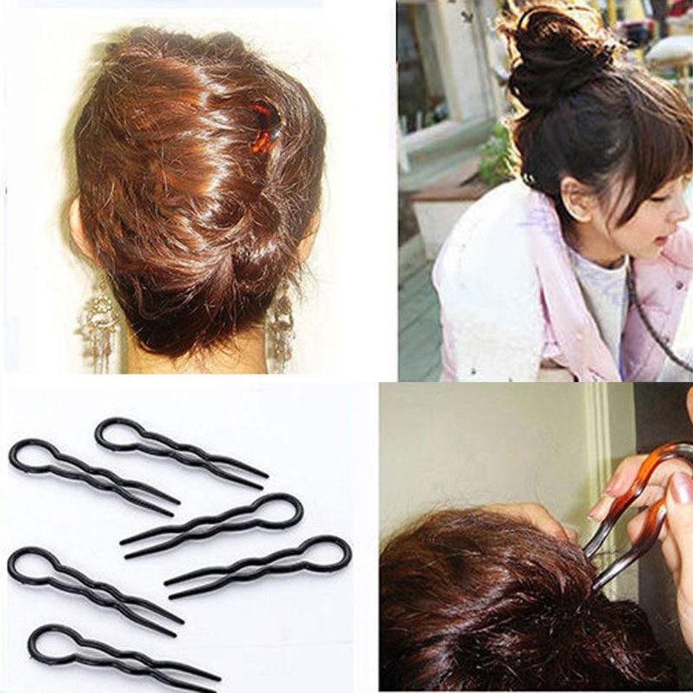 Épingles à cheveux et Clips en forme de U pour femmes, accessoires de coiffure à bout rond, pour couvre-chef, 3 pièces/ensemble