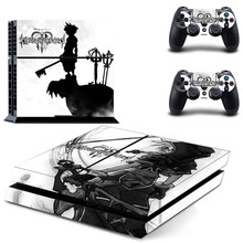 Kingdom Hearts Play station 4 Stickers,PS 4 Sticker Vinyl PS4 Skin Pegatinas Adesivo For PlayStation 4 console and 2 controller