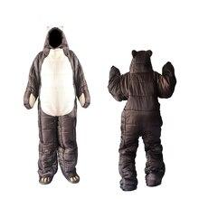 Inverno Orso Sacco A Pelo Ultralight Cotone Mummia Sacco A Pelo di Campeggio Esterna Polar Adulti Freddo Leggero Pastiglie Da Trekking