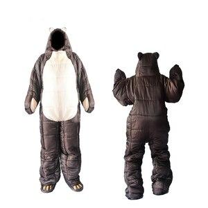 Image 1 - Winter Bear Sleeping Bag Ultralight Cotton Camping Outdoor Polar Adults Cold Weather Lightweight Mummy Sleeping Bag Pads Hiking