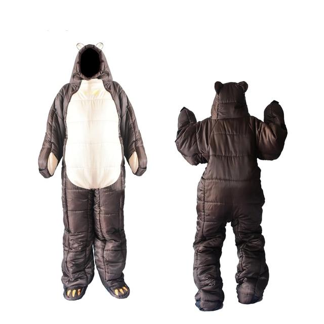 Winter Bear Sleeping Bag Ultralight Cotton Camping Outdoor Polar Adults Cold Weather Lightweight Mummy Sleeping Bag Pads Hiking