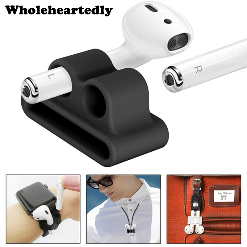 Anti-lost Silicone Bluetooth Earphone Stand Holder For AirPods Apple I7 Earphones Earbud Holder Clip For Apple Watch