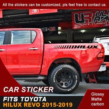 цена на car decal tailgate straps hilux gradient graphic vinyl car sticker for toyota hilux revo vigo 2012 2013 2014 2015 2016 2017 2018