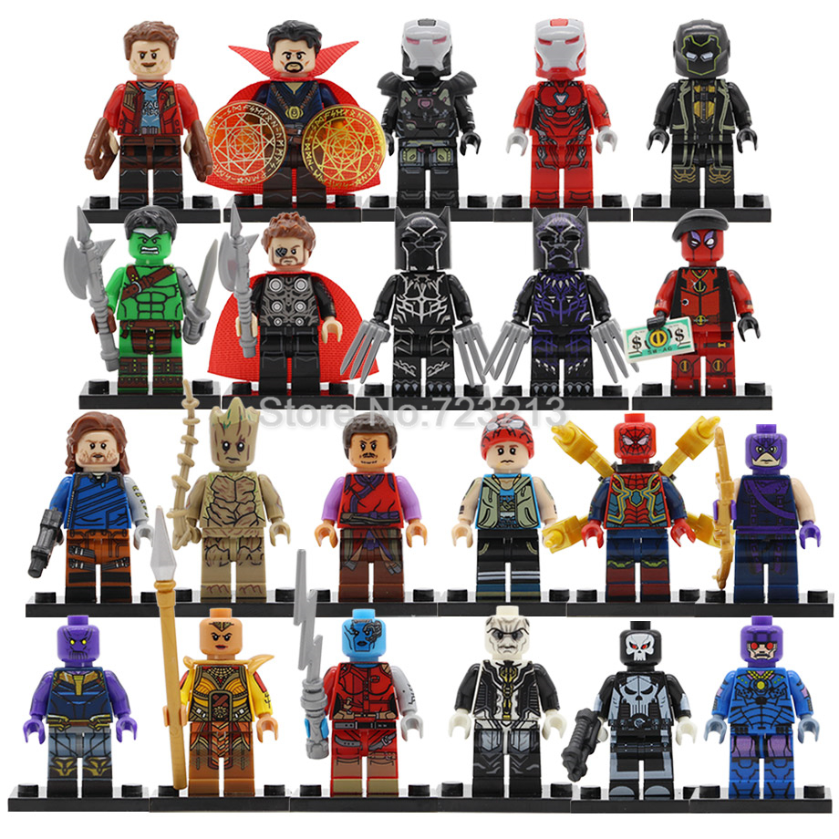 Single Super Hero Pepper Potts Figure Ronin Ebony Maw Model Dr Strange Black Panther War Machine Building Blocks Toys Legoing