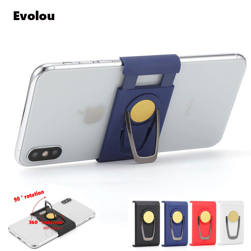 Mobile Phone Finger Ring Holder Multi-function 360 Rotation Magnetic Car Phone Holder Stand For Iphone Samsung Xiaomi Huawei LG