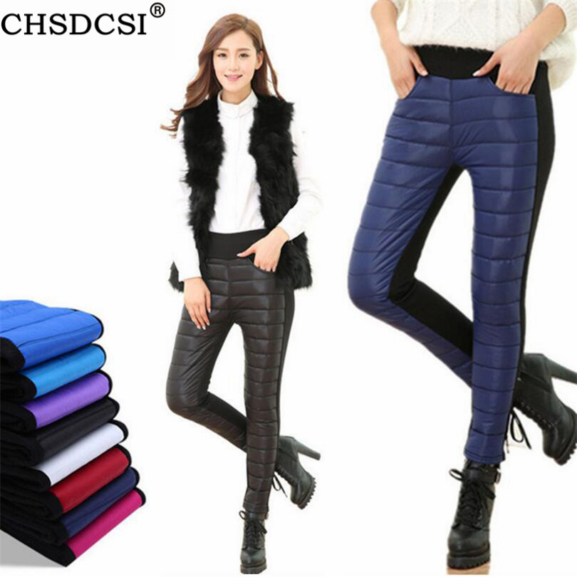CHSDCSI Plus Velvet Thick Pants New Pants High Waisted Trousers Ski Winter Outer Wear Thick Women Casual Warm Windproof Trousers