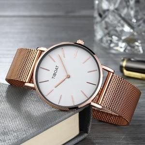 Image 5 - Women Watches Top Brand Luxury Japan Quartz Movement Stainless Steel Rose Gold Dial Waterproof Wristwatches relogio feminino