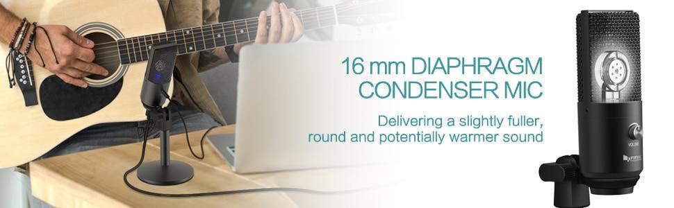 FIFINE Uni-Directional USB Microphone 12