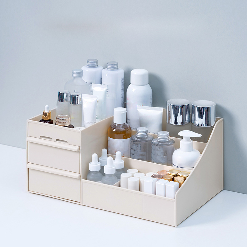Large Capacity Cosmetic Storage Box Makeup Drawer Organizer Jewelry Nail Polish Makeup Container Desktop Sundries Storage Box 2
