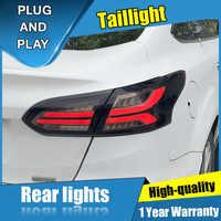 4 sztuk Car Styling dla Ford focus Taillights 2015-2018 dla focus dynamiczna tylna lampa LED + Turn Signal + Brake + rewers LED light