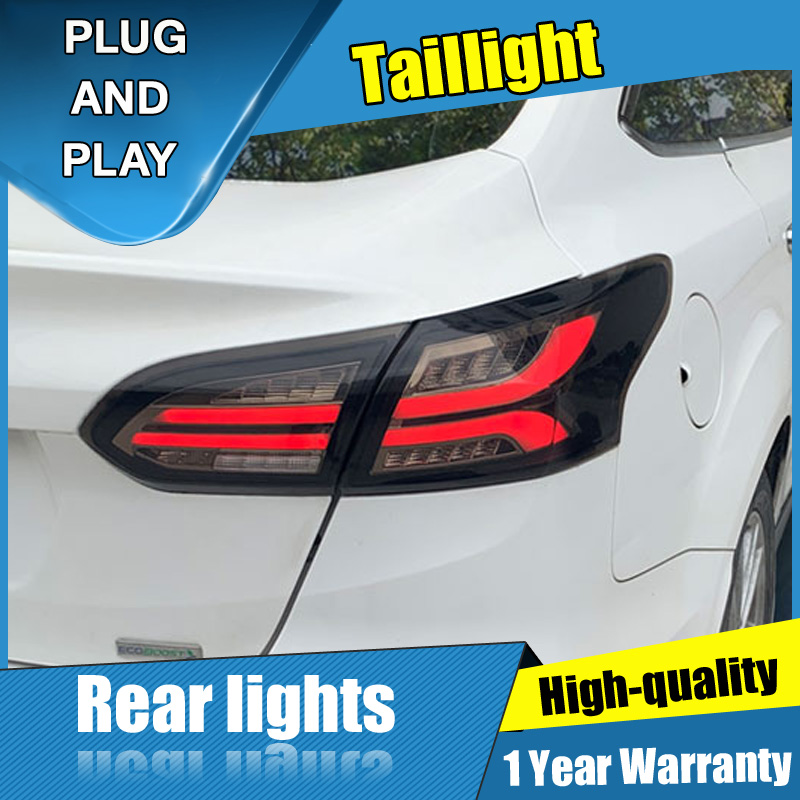 4PCS Car Styling for <font><b>Ford</b></font> <font><b>focus</b></font> <font><b>Taillights</b></font> 2015-2018 for <font><b>focus</b></font> Dynamic LED Tail Lamp+Turn Signal+Brake+Reverse LED light image