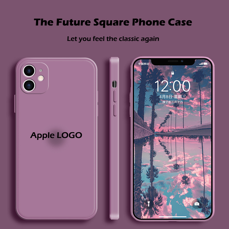 Official Liquid Soft Silicone Phone Case For iPhone 11 12 Pro Max 7 8 Plus X XS MAX XR SE 2 2020 Apple Cover Case With LOGO
