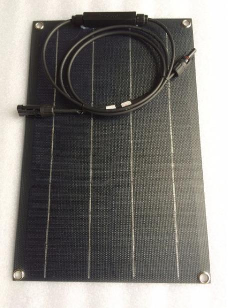 20W Monocrystalline ETFE Flexible Solar Panel For Car/Boat High Quality Flexible Panel Solar image