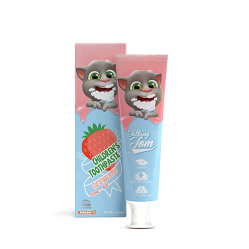 Talking Tom and Friends 1PC Children Anti Caries Organic Hygiene Toothpaste Strawberry Flavor Whitening Cleaning Toothpaste