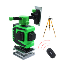 Laser-Level Green-Lines Outdoor Remote-Control Lithium-Battery Powerful 3D BIGGRIT 12