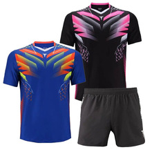 TIBHAR Table Tennis Jerseys for Men Women Ping Pong Cloth Sportswear Training Blooming T-Shirts Group purchase breathable shirts