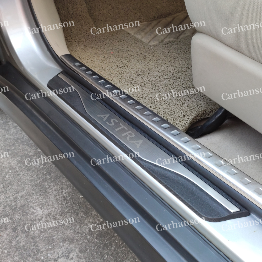 OPEL ASTRA J Sport Tourer 2010-Rear Bumper Protector Stainless Steel Scuff Plate