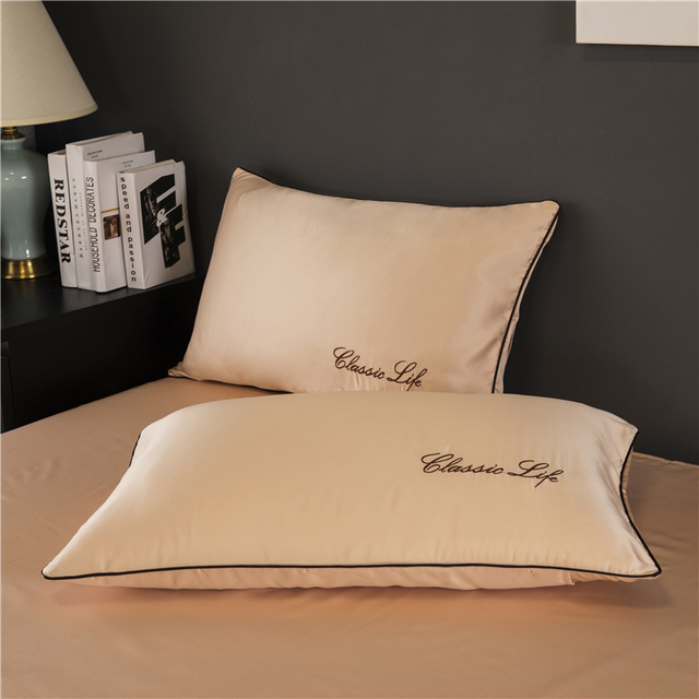 TWO Side 100% satin silk Pillowcases Envelope Pure Silk Embroidery Pillow Case Pillowcase for Healthy Sleep Multicolor 48x74cm 3