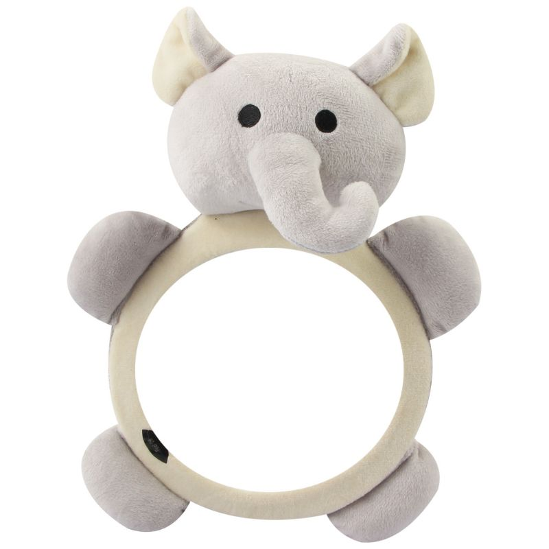 Baby Safety Seat Rear Mirror Car Interior Rearview Mirrors Infants Kids Plush Cartoon Toy