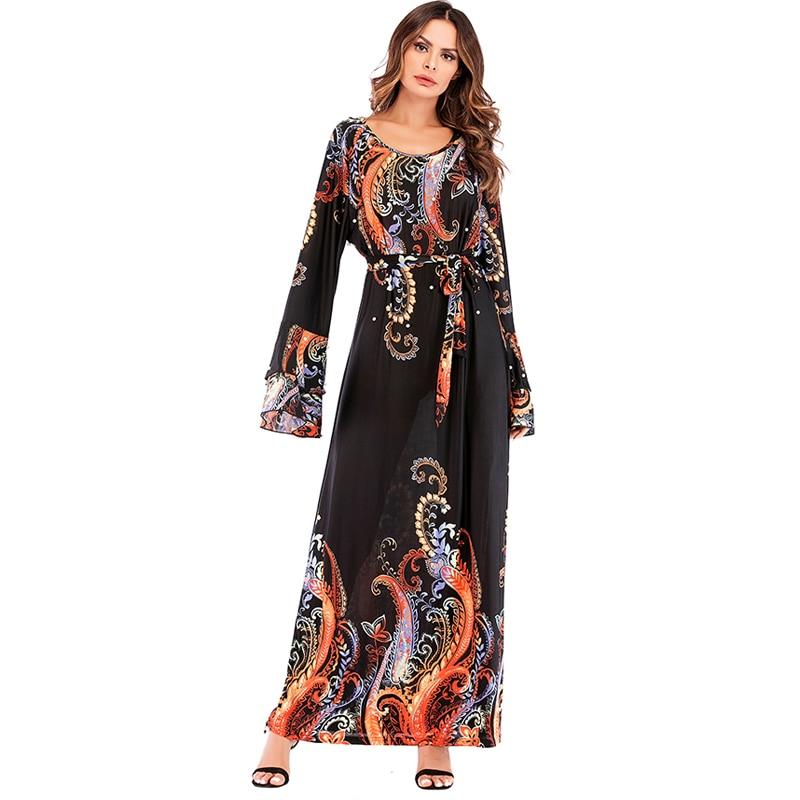 Abaya Dubai Kaftan Pearls Muslim Hijab Dress Robe Arab UAE Caftan Jilbab Abayas for Women Turkey Islamic Clothing Djellaba Jubah