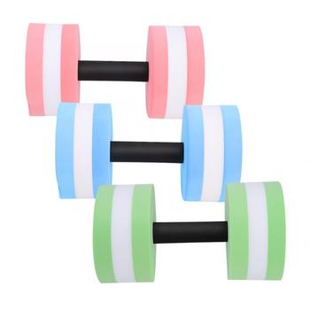 1 Pair Water Float Dumbbell Bodybuilding weightlifting Training Fitness Yoga Dumbbell Barbell Fitness Equipment tanie i dobre opinie VBESTLIFE Electroplate Fitness Water Dumbbell Other Kompleksowe fitness ćwiczenia