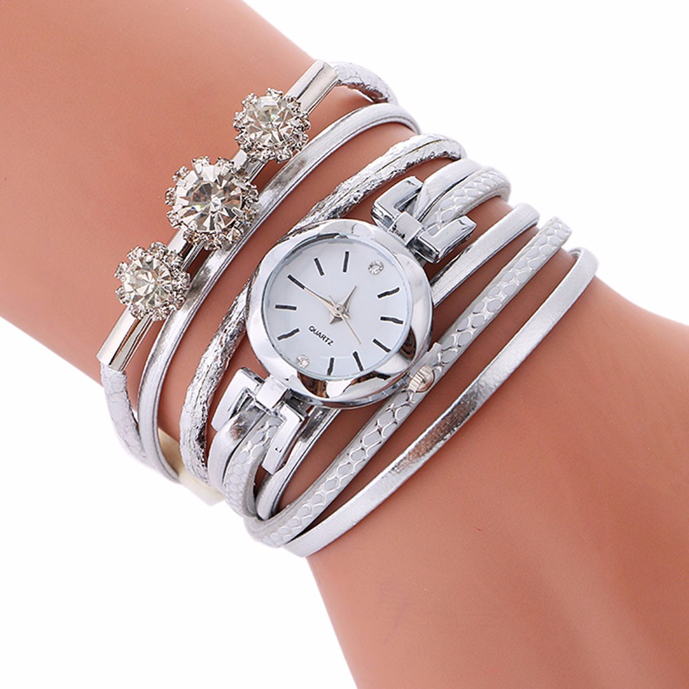 Ladies Bracelet Diamond Circle Watch Student  Fashion Table Girl's Bracelet Watch And Bracelet Set Womens Montres Femmes
