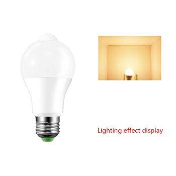 E27 LED lampa z czujnikiem ruchu PIR 10W 85-265V zmierzch do świtu noc żarówka Home tanie i dobre opinie CN (pochodzenie) 448A5AC401831-A PC Aluminum app 60x118m 2 36x4 65in White Warm Whit