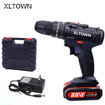 XLTOWN 88VF impact drill multi-function electric screwdriver rechargeable lithium battery household hand drill cordless drill xltown 88vf impact drill multi function electric screwdriver rechargeable lithium battery household hand drill cordless drill