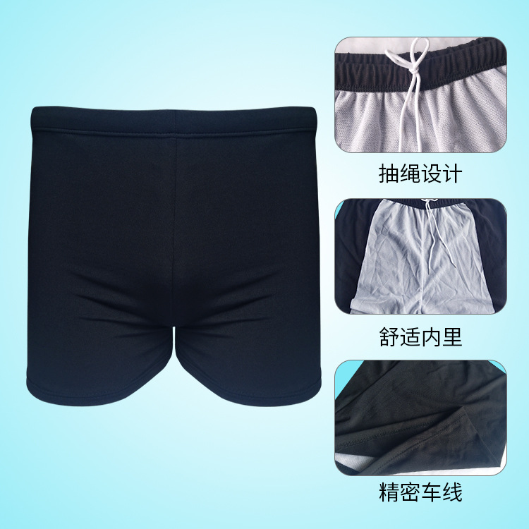 Solid Color MEN'S Swimming Trunks Boxers Comfortable Practical Adult Bathing Suit Beach Shorts Large Size Bubble Hot Spring Swim