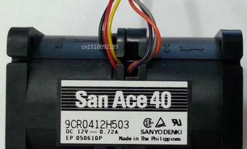 Original For Sanyo 4056 12V 0.72A 9CR0412H503 9CR0412H504 6Wire Powerful Cooling Fan Free Shipping