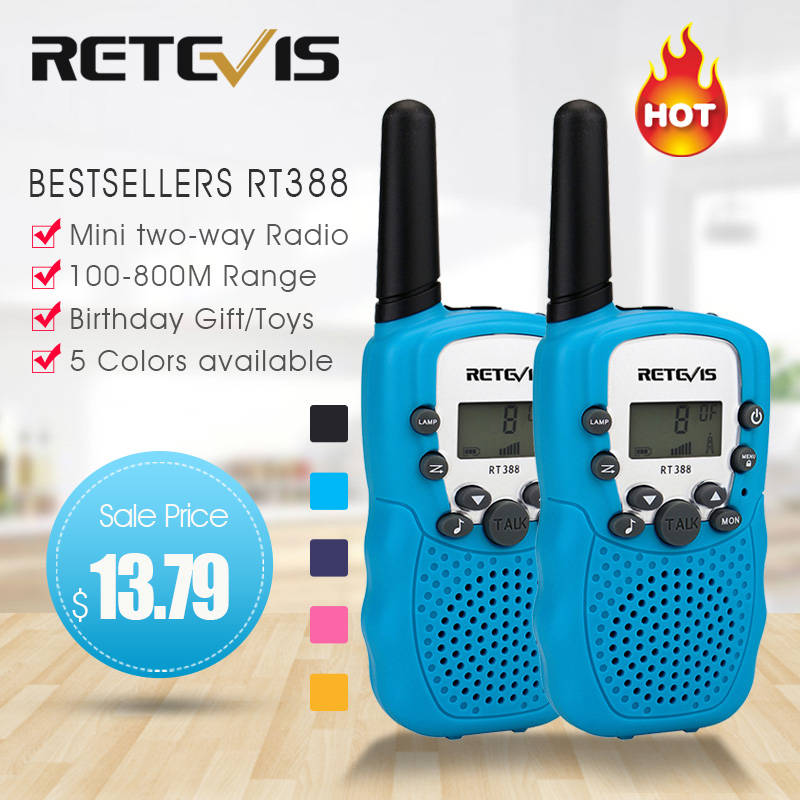 Walkie-Talkie Radio-Station Two-Way Retevis Rt388 PMR Children New-Year Family-Use/camping