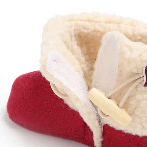 Đồ Sơ sinh Bé Trai Mùa Đông Tuyết Đỏ Ấm Áp Giày Trẻ Sơ Sinh Bé Trai Bé Gái Công Chúa Ấm Giường Cũi Giày Prewalker 0-18M 4 màu sắc