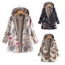 Abrigo con capucha y cremallera de manga larga para mujer, chaqueta Casual, Parkas de lana, Parkas de talla grande para otoño e invierno, abrigo grueso Vintage cálido para mujer