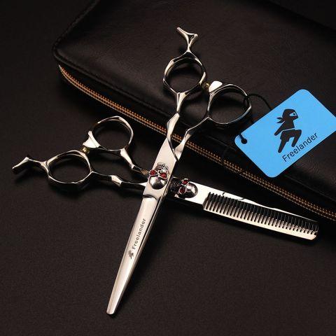 freelander profissional 6 polegada salao de beleza tesouras do cabelo conjunto ferramentas estilo do cabelo