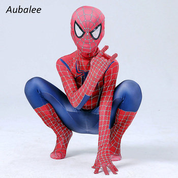 Child Raimi Spider Costumes Cosplay Man Halloween Costume For Kids Jumpsuit Party Spider Boys Bodysuit Suit 2020 halloween costumes for adult spider costume children spider anime cosplay boys spider suit lycra zentai suit