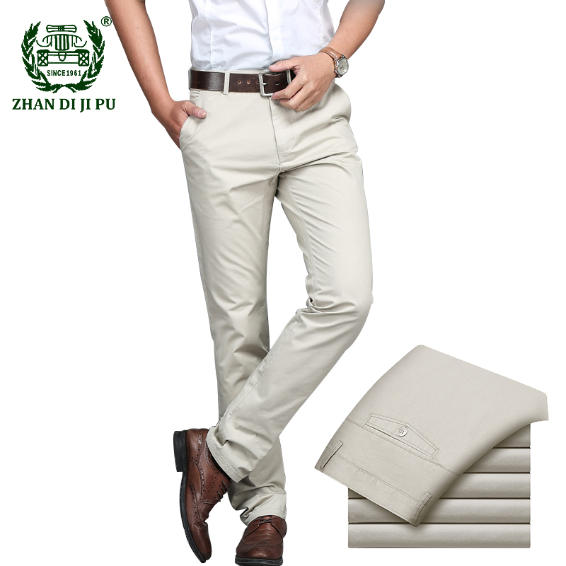 Men's Business Casual Pants Office Suit Long Pant Dress Trousers Male Straight Wedding Social Formal Trouser Pantalones Hombre