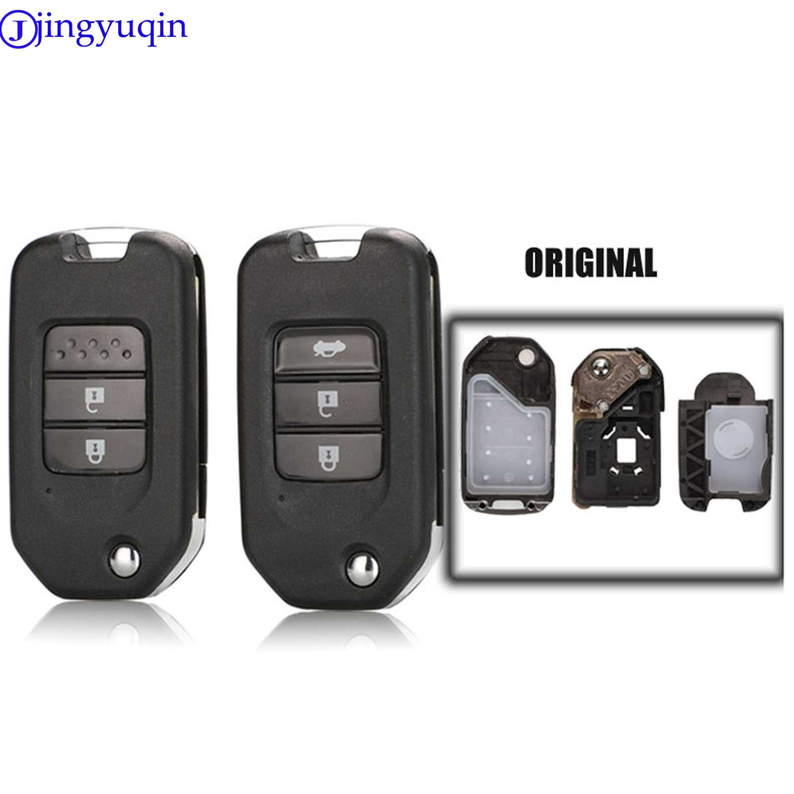 Replacement Smart Remote Key Shell Case Fob for Honda Civic Accord HR-V CR-V